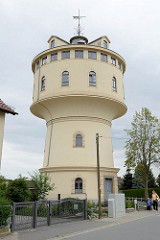 Wasserturm von Strehla, errichtet 1907 - Planung Ingenieur C. Jensen; Nutzung bis in die 1980er Jahre.