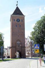 Markttor von Elbląg / Elbing - gotischer Ursprungsbau von 1314 - Festungsanlage der Stadt.