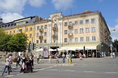 Historisches Geschäftshaus, Wohnhaus - Restaurant an der Naujojo Sodo g. in Klaipėda, Litauen.