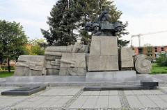 Denkmal der polnischen Artillerie in Toruń - Entwurf Prof. Franciszek Duszeńko, aufgestellt 1980.