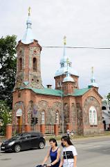 Orthodoxe Kirche St. Sergius von Radonesch; fertig gestellt 1877, lettischer Architekt  Janis Fridrihs Baumanis - gebaut aus Felsblöcken und Backsteinen.
