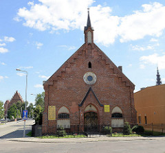 Kirche zum Guten Hirten in Elbląg / Elbing; erbaut 1890 als Versammlungsstätte der Elbinger Mennoniten.