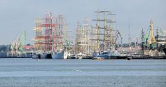 Großsegler beim Hafenfest / Seefest im Hafen von Klaipėda.