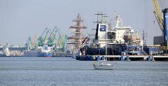 Hafenstadt Klaipėda in Litauen an der Ostsee.