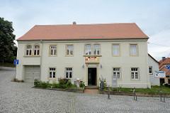 Denkmalgeschütztes Gebäude - ehem. Schösserei / Unterburg in Strehla, jetzt Nutzung als Heimatmuseum.