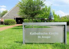 Katholische Kirche St. Ansgar in Hittfeld - geweiht 1964.