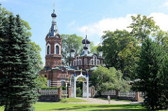 Orthodoxe Kirche  der Erleuchtung durch Christus in Limbaži / Lemsal, erbaut 1903.