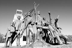 Denkmal für die Opfer des Faschismus - Figurengruppe zu Ehren des Widerstandskampfes im Lager Buchenwald. Entwurf Fritz Cremer in Zusammenarbeit mit Bertold Brecht, 1958.
