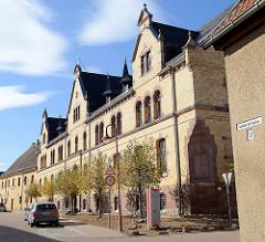 Siechenhaus / Altenheim in der Sangerhäuser Straße von Mansfeld; das historische Gebäude wird heute von den Johannitern genutzt und steht unter Denkmalschutz.