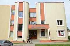 Moderne Architektur - Wohngebäude / Verwaltungsgebäude Gasgesellschaft in Valmiera, Lettland.