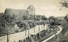 Historische Ansicht der evangelische Stadtkirche Sankt Bartholomäus in Belgern - geweiht 1512.