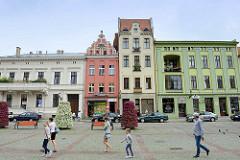 Neuer Marktplatz, Neustadt von Toruń - Architektur unterschiedliche Baustile; Klassizismus / Renaissance.