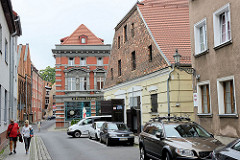 Historische Wohnhäuser - Geschäftshauser in der Ulica Rabiańska von Toruń.