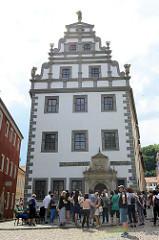 Altes Brauhaus an der Frauenkirche in Meißen, erbaut im 15. Jahrhundert - 1570 im Stil der Renaissance umgebaut.