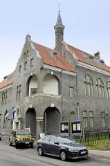 Rathaus am Nikolai in Pärnu - erbaut 1911, Entwurf Rigaer Architekt Wilhelm Bockslaff .
