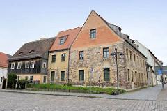 Bruchsteingebäude - Wohnhaus in der Marktstraße von Schildau, erbaut um 1830.