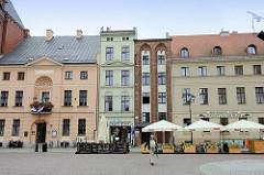 Bürgerhäuser am Alten Markt von Toruń.