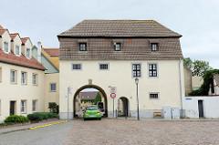 Oschatzer Tor in Belgern, Stadttor der ehem. Stadtbefestigung, heute Heimatmuseum.