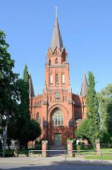 Petrikirche in Tartu - erbaut 1884; neogotischer Baustil - Architekt Viktor Schröter, Baumeister Gustav Beermann.