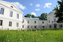 Historische Gebäude des alten Anatomikum in Tartu; erbaut 1805, Architekt J. W. Krause auf dem Domberg / Toomemägi in Tartu.