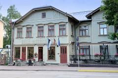Holzgebäude / Holzarchitektur in Tartu - Baustil Jugendstil, Art Nouveau - Villa Margaretha, Nutzung als Hotel / Restaurant.