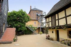 Ehemaliger Klosterhof in Belgern - seit 1633 Pfarrhaus; Zeugnis sächsischer Gotik.