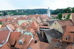 Dächer der Stadt Meißen - im Hintergrund der Kirchturm der Frauenkirche.