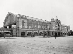 Historische Fotografie vom Hamburger Dammtorbahnhof.