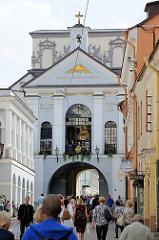 Torkapelle im Tor der Morgenröte - als wundertätig verehrten Ikone, eine Schwarze Madonna, der Barmherzigen Muttergottes - Sehenswürdigkeiten in Vilnius.