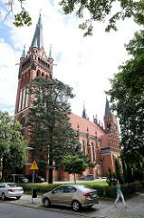 Römisch-katholische Herz-Jesu-Kirche in Olsztyn - neugotische Hallenkirche, erbaut 1903 - Architekt  Friedrich Heitmann.