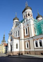 Russisch-orthodoxe  Alexander-Newski-Kathedrale in Tallin, geweiht 1900 - Domberg.