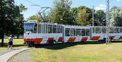Straßenbahnzug in Tallinn - Wendeplatz.