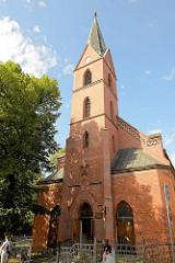 Christus-Erlöser-Kirche in Olsztyn -  neugotischer Ziegelbau, geweiht 1876.