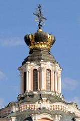 Kuppel, Krone des litauischen Großfürsten - Kirche St. Kasimir in Vilnius - fertiggestellt 1615; 1755 im hochbarocken Baustil neu errichtet. 1949 Umwidmung zum Lagerraum, 1966 Museum des Atheismus - 1991 als Jesuitenkirche neu eröffnet.