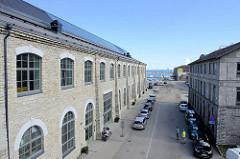 Ehem. Fabrikgebäude, historische Industriearchitektur am Hafen von Tallinn, jetzt Nutzung u. a. für kreatives Gewerbe.