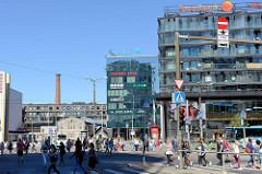 Geschäftshäuser, Einkaufszentrum in der Innenstadt von Tallinn - Narva maantee.