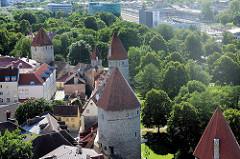 Wehrtürme / Stadtmauer der Unterstadt in Tallinn.