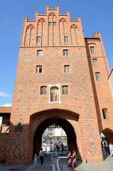 Hohes Tor in der Altstadt von Olsztyn - Backsteingebäude der Stadtbefestigung von Allenstein - Backsteingotik, errichtet im 14. Jahrhundert.