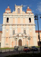 Hl. Kasimirkirche in Vilnius- Barockkirche, geweiht 1615. Im 18. Jahrhundert abgebrannt, wieder aufgebaut. Nutzung als Getreidelager unter Napoleon - danach Umwidmung in eine orthodoxe Kirche. Während des I. Weltkriegs Lazarett für deutsche Sol