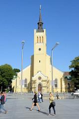 Evangelisch-lutherische St.-Johannis-Kirche der estnischen Hauptstadt Tallinn, erbaut 1867 - Baustil Neogotik, Architekt Christoph August Gabler.