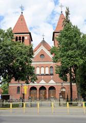 Kirche St. Józef / St. Joseph in Olsztyn, erbaut 1913 im neoromanischem Baustil - Architekt Fritz Heitmann .