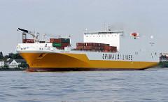 RoRo Schiffs GRANDE CAMERON. RoRo-Schiffe (von engl. Roll on Roll off) sind moderne Transportschiffe, welche bewegliche Güter im RoRo-Verfahren transportieren.