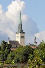 Kirchturm der St. Olafkirche / Olaikirche in Tallin, Neuaufbau 1834.
