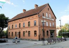 Gebäude der Gazeta Olsztyńska, zerstört 1939 - Wiederaufbau 1989, jetzt Museum von Ermland und Masuren.