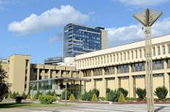Parlamentsgebäude in Vilnius - Symbol des Widerstandes des litauischen Volkes gegen die sowjetische Okkupation. Einige zehntausend Menschen haben am 13. Januar 1991 die Besetzung des Parlaments durch die Sowjettruppen verhindert.