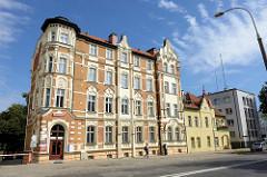Restaurierter Wohnblock der Gründerzeit - Architektur in Olsztyn.