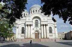 Garnisionkirche in Kaunas - erbaut 1893 für das Zarenheer im byzantinischen Baustil als russisch orthodoxe Kirche  / Hlg. Peter und Paul. Zu Sowjetzeiten ein Museum für Bildhauerei und Glasmalerei, ab 1989 wieder katholische Kirche - gewidmet dem