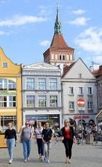 Altstadt / Stare Miastro in Olsztyn - im Hintergrund der Kirchturm der St. Jakobi Kirche.