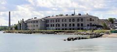 Blick zur Festung Patarei in Tallinn. Wasserfestung, erbaut 1840; ab 1918 Gefängnis bis 2002.