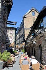 Historisches Stadtviertel Rotermann in Tallinn - alte Industriegebäude / Fabriken, jetzt Nutzung u. a. Esslokale / Kino.